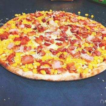 Pizza Bacon Milho | Cardápio - Pizzaria Meu Rancho