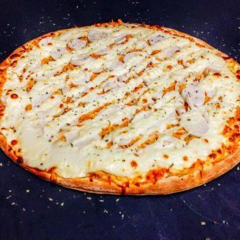Pizza Frango com Plamito e Catupiry - Pizzaria Meu Rancho