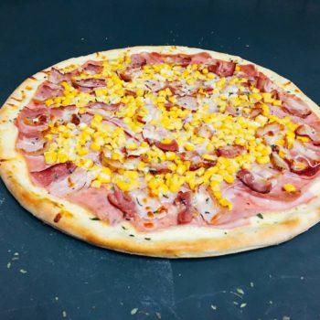 pizza presunto bacon e milho