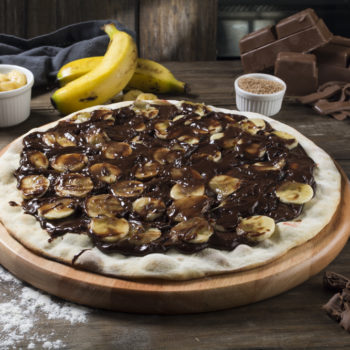 Pizza Banana com Chocolate